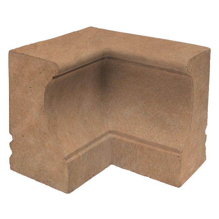 Roman Curbing Inside Corner Gold Limestone