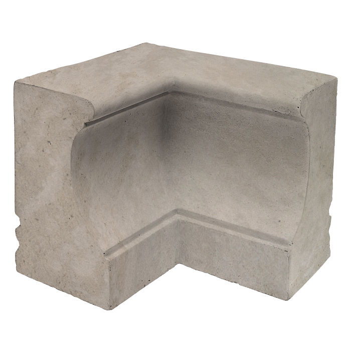 Roman Curbing Inside Corner Natural Gray Limestone
