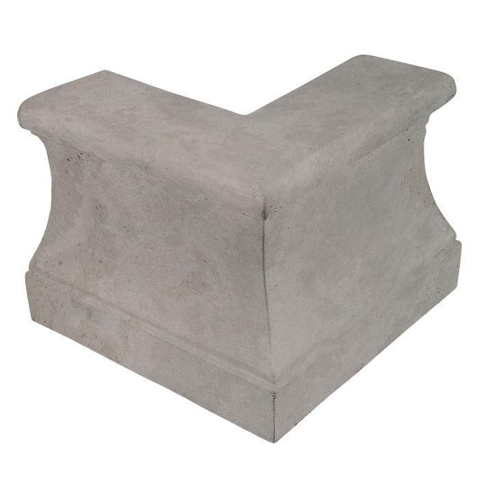Roman Curbing Outside Corner Sidewalk Gray Limestone