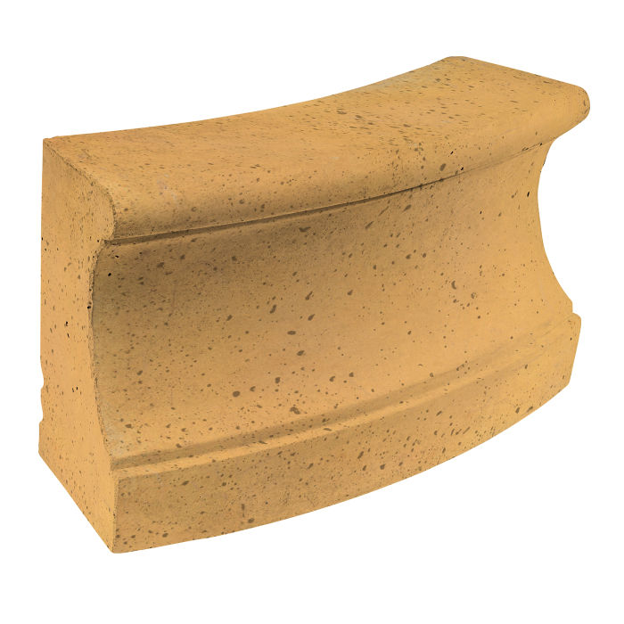 Roman Curbing Radius Set 12' Buff Travertine