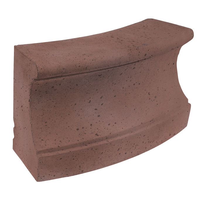 Roman Curbing Radius Set 12' City Hall Red Travertine