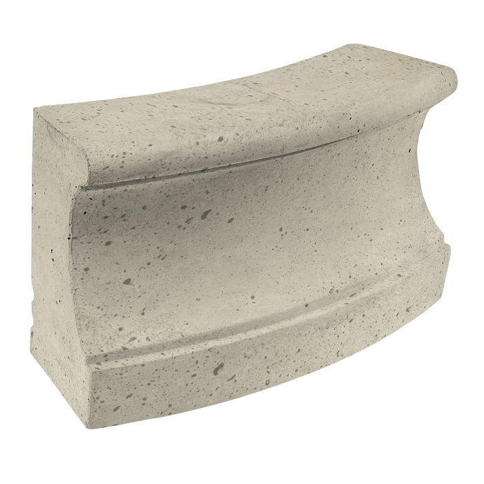 Roman Curbing Radius Set 12' Early Gray Luna