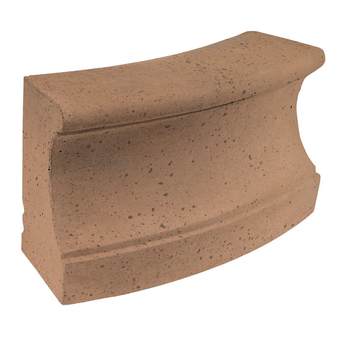 Roman Curbing Radius Set 12' Flagstone Travertine