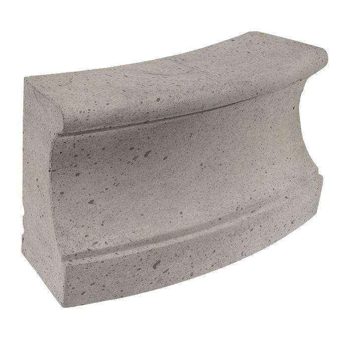Roman Curbing Radius Set 12' Natural Gray Luna