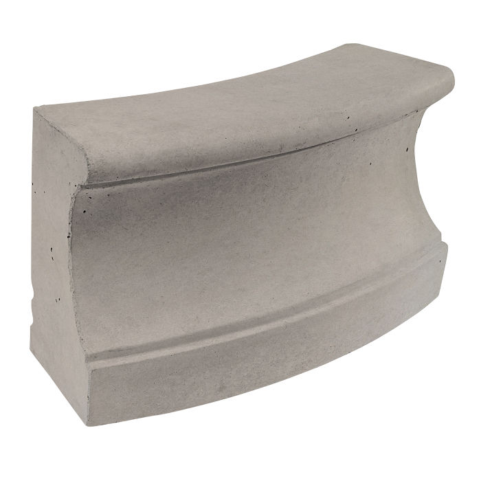 Roman Curbing Radius Set 12' Natural Gray