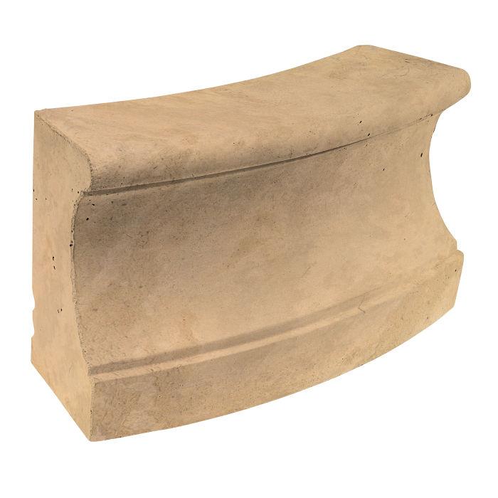 Roman Curbing Radius Set 12' Old California Limestone