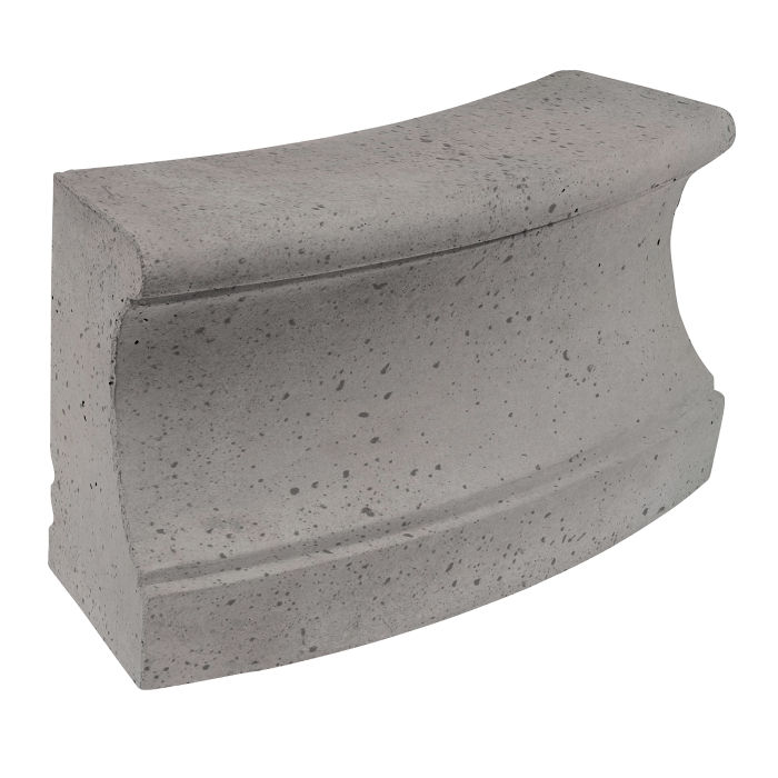 Roman Curbing Radius Set 12' Sidewalk Gray Travertine