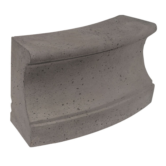 Roman Curbing Radius Set 12' Smoke Travertine