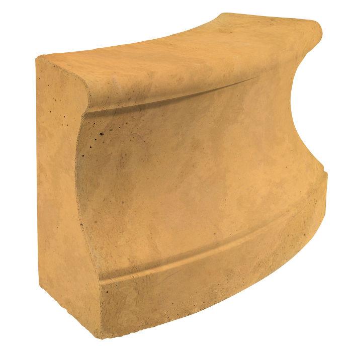 Roman Curbing Radius Set 3' Buff Limestone