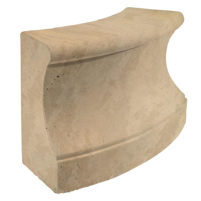 Roman Curbing Radius Set 3' Hacienda Limestone