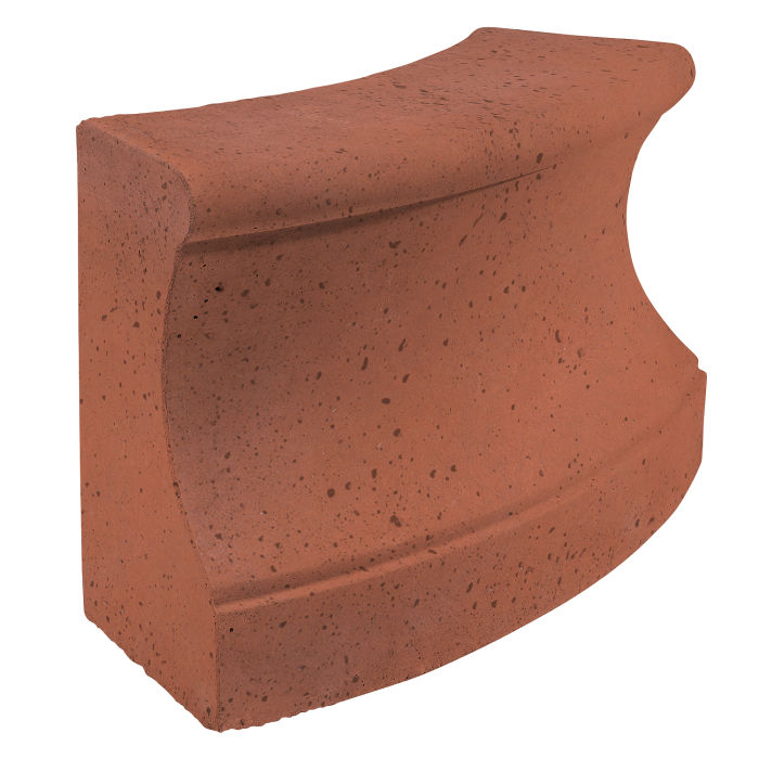 Roman Curbing Radius Set 3' Mission Red Travertine