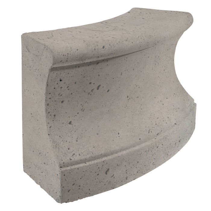 Roman Curbing Radius Set 3' Natural Gray Luna