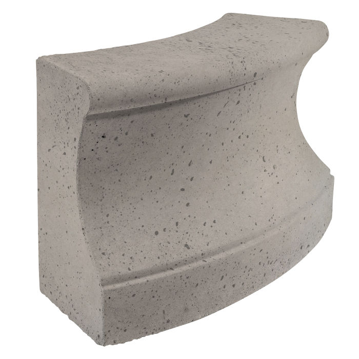 Roman Curbing Radius Set 3' Natural Gray Travertine