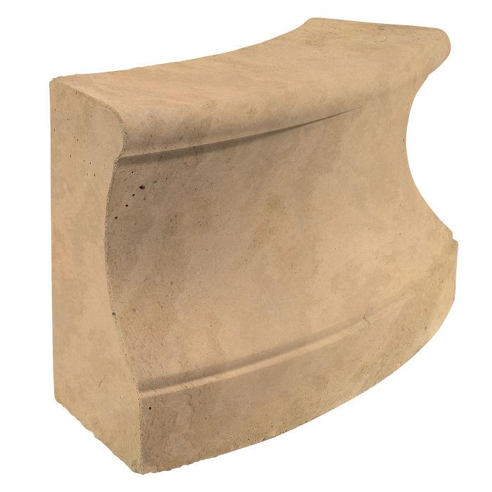 Roman Curbing Radius Set 3' Old California Limestone