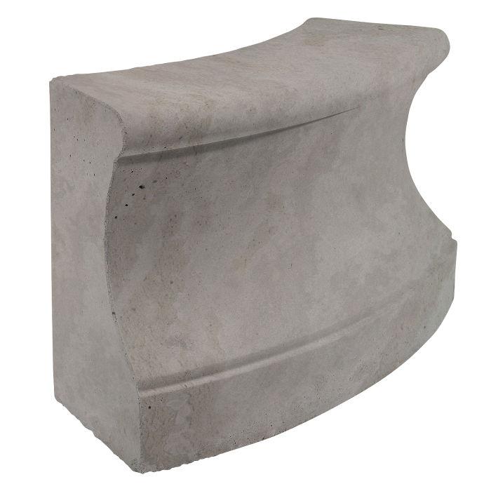 Roman Curbing Radius Set 3' Sidewalk Gray Limestone