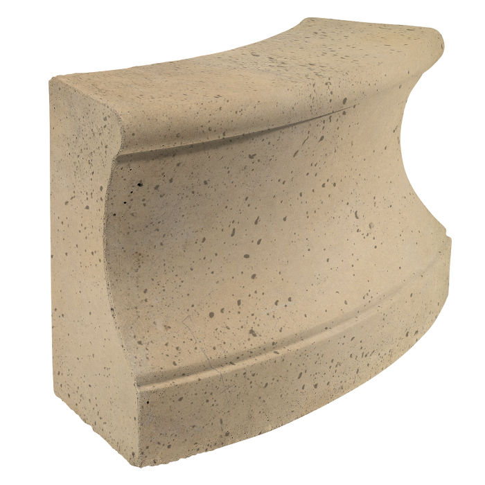 Roman Curbing Radius Set 6' Hacienda Travertine