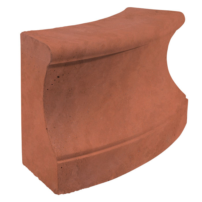 Roman Curbing Radius Set 6' Mission Red Limestone