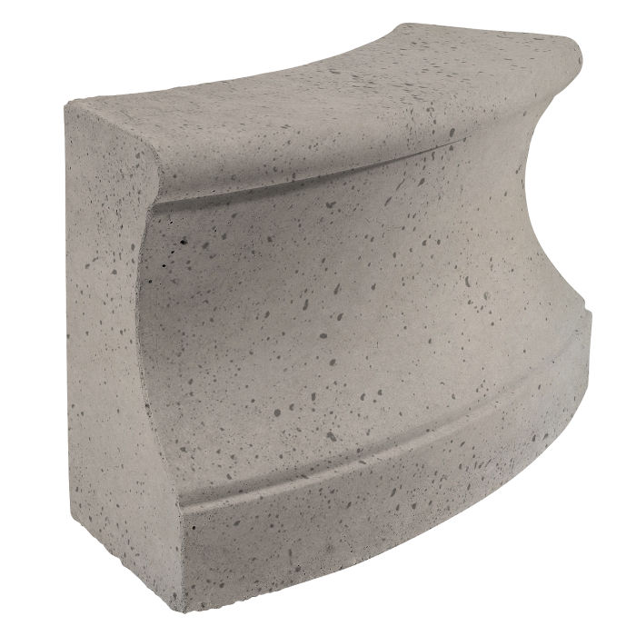 Roman Curbing Radius Set 6' Natural Gray Travertine