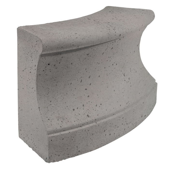 Roman Curbing Radius Set 6' Sidewalk Gray Travertine