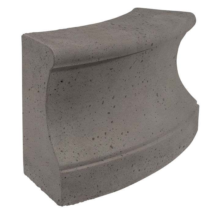 Roman Curbing Radius Set 6' Smoke Travertine