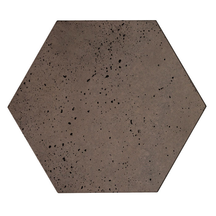 8x8x2 Roman Hexagon Paver Charley Brown Travertine