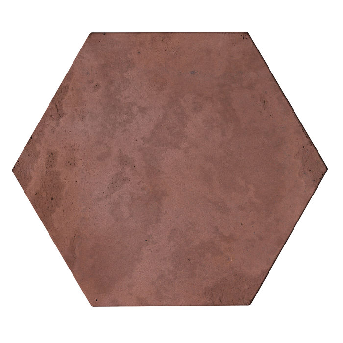 8x8x2 Roman Hexagon Paver City Hall Red Limestone