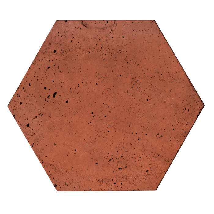 8x8x2 Roman Hexagon Paver Mission Red Luna