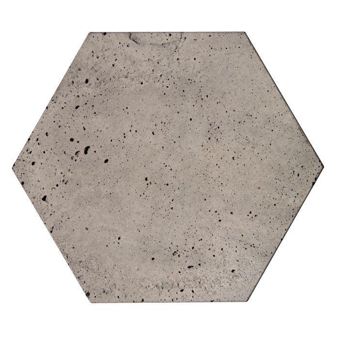 8x8x2 Roman Hexagon Paver Natural Gray Luna