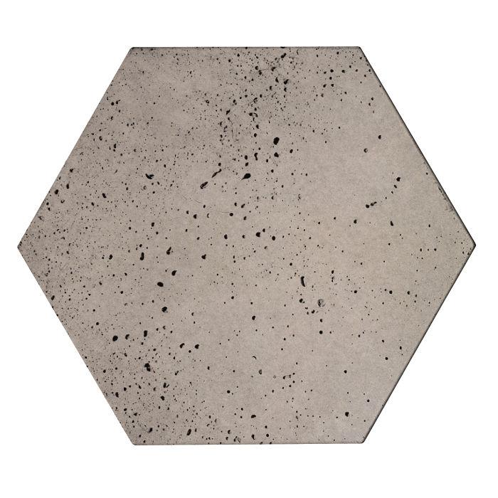 8x8x2 Roman Hexagon Paver Natural Gray Travertine