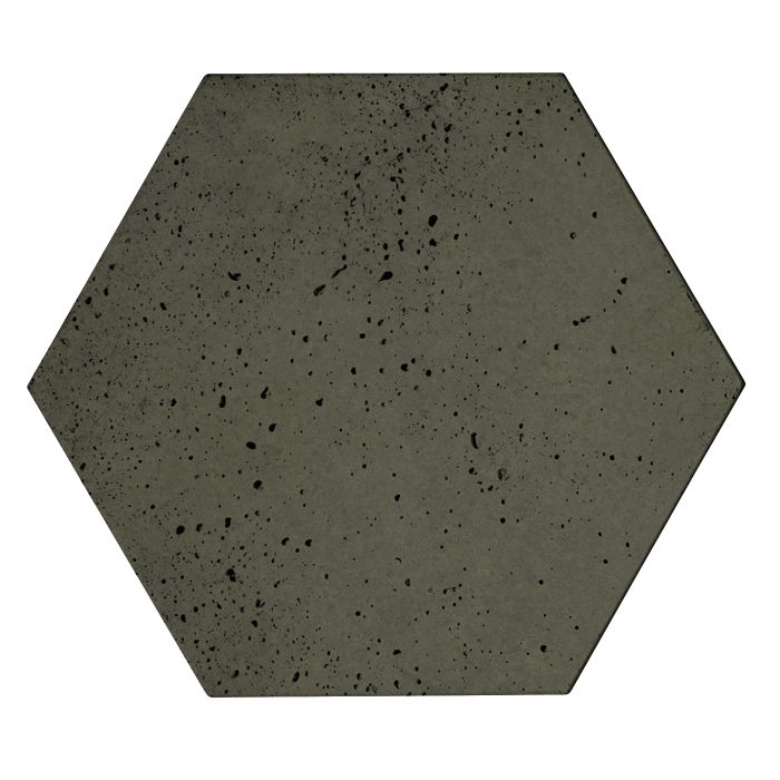 8x8x2 Roman Hexagon Paver Ocean Green Dark Travertine