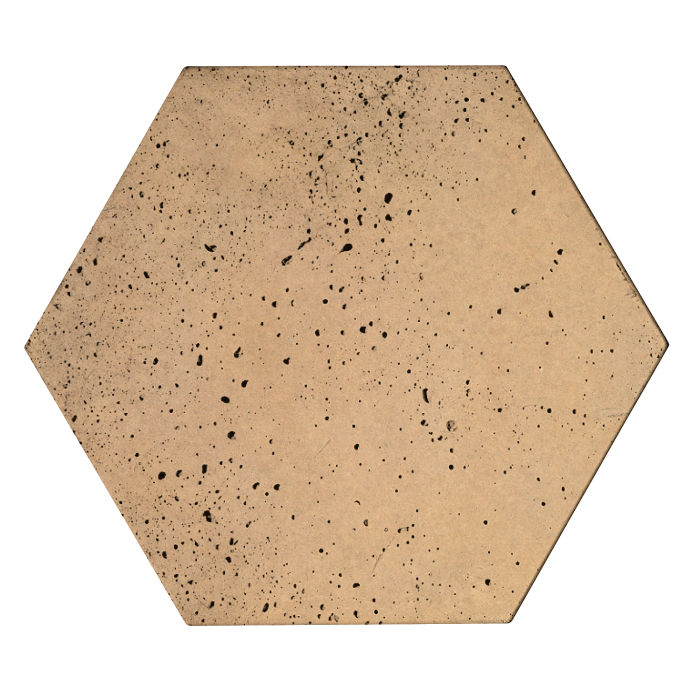 8x8x2 Roman Hexagon Paver Old California Travertine