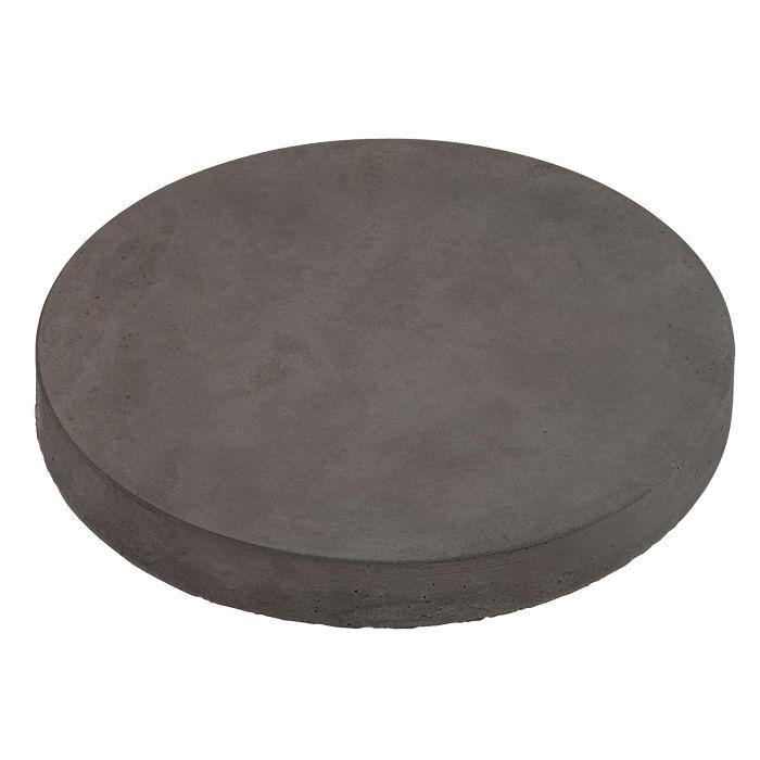 12x12 Roman Pavers Round Charcoal Limestone