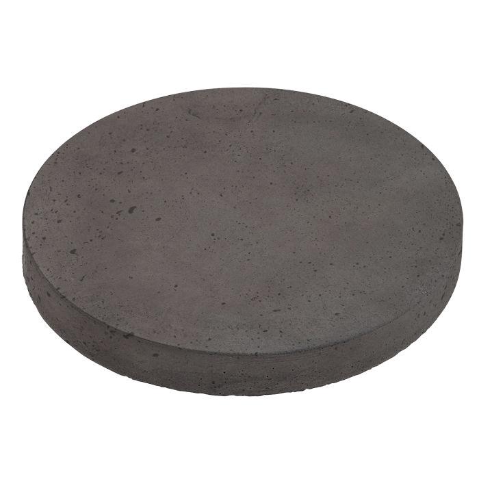 12x12 Roman Pavers Round Charcoal Luna