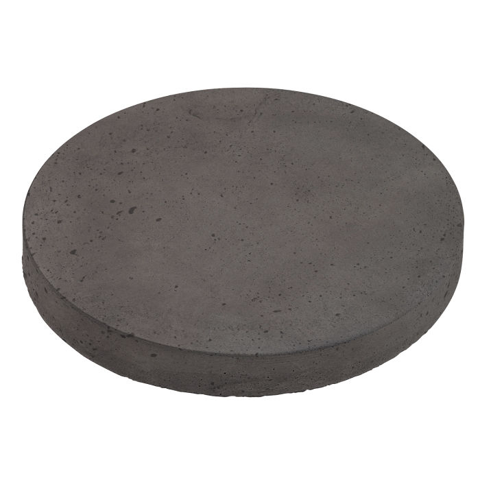 18x18 Roman Pavers Round Charcoal Luna