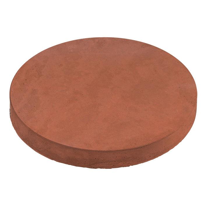 18x18 Roman Pavers Round Mission Red Limestone
