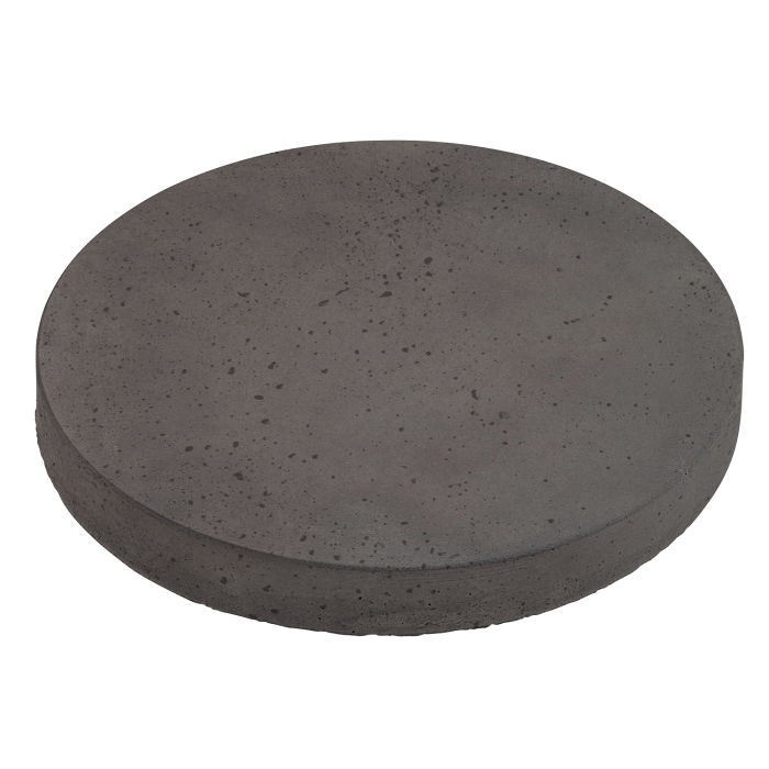 24x24 Roman Pavers Round Charcoal Travertine