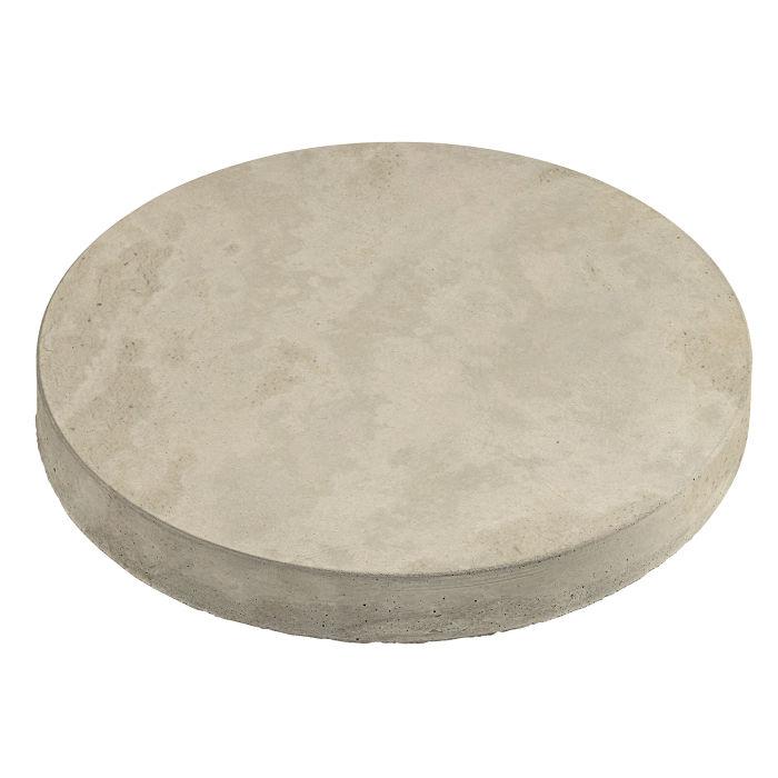 24x24 Roman Pavers Round Early Gray Limestone