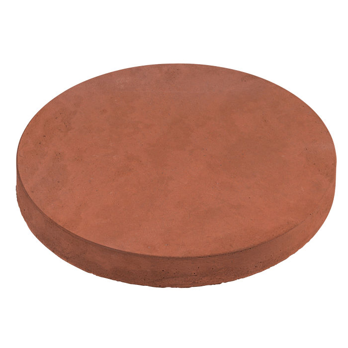 24x24 Roman Pavers Round Mission Red Limestone