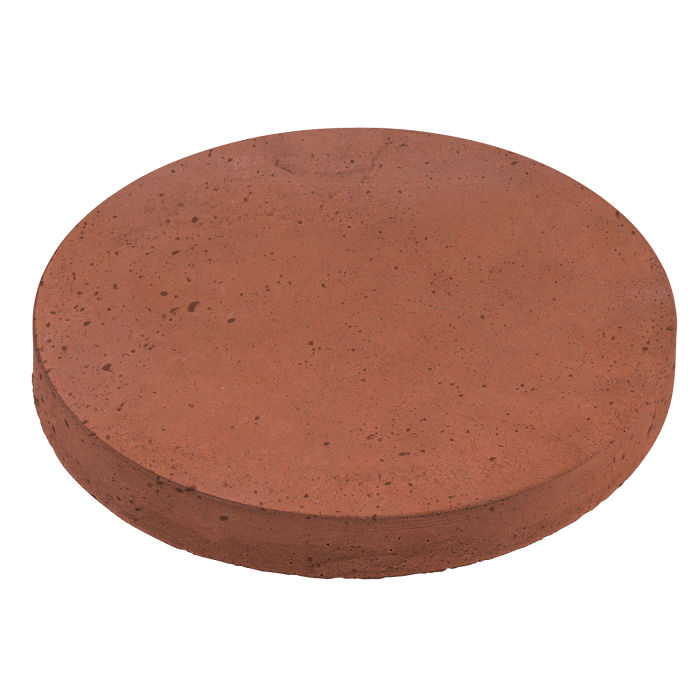 24x24 Roman Pavers Round Mission Red Luna