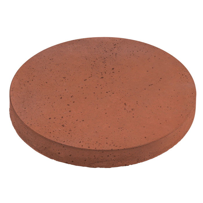 24x24 Roman Pavers Round Mission Red Travertine