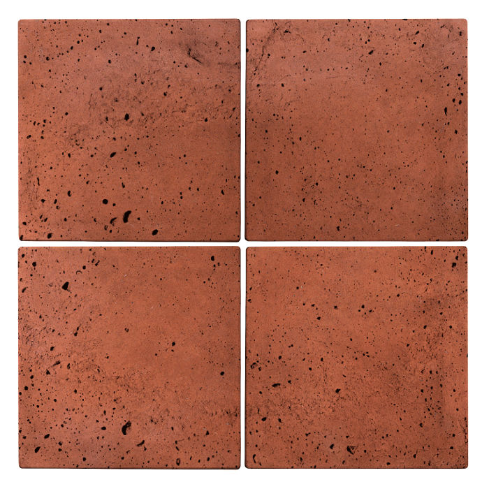 6x6x2 Roman Paver Mission Red Luna