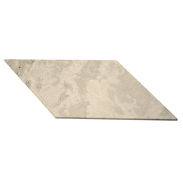 12x24 Roman Tile Chevron B Early Gray Limestone