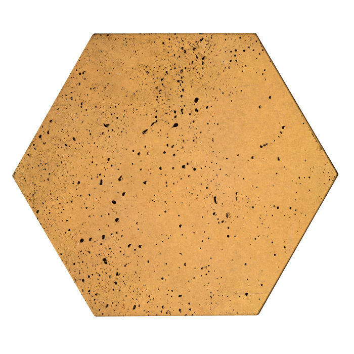 8x8 Roman Tile Hexagon Buff Travertine