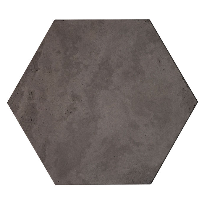 8x8 Roman Tile Hexagon Charcoal Limestone