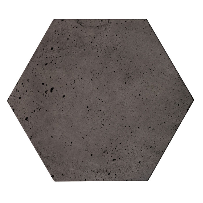 8x8 Roman Tile Hexagon Charcoal Luna
