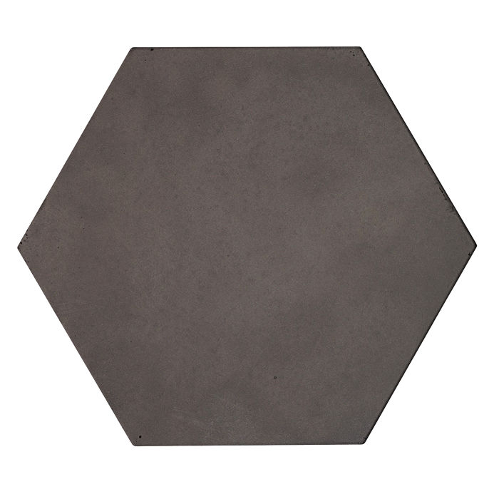 8x8 Roman Tile Hexagon Charcoal
