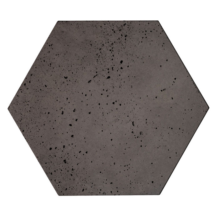 8x8 Roman Tile Hexagon Charcoal Travertine