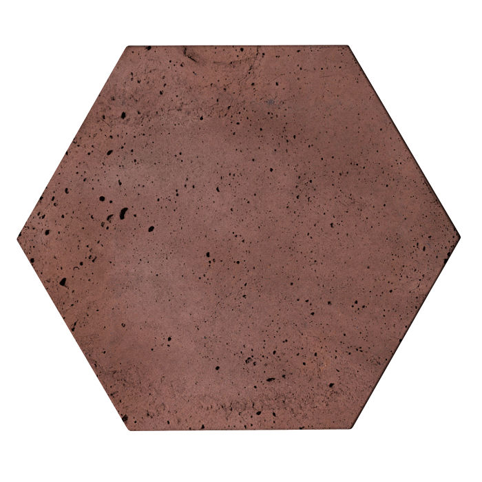 8x8 Roman Tile Hexagon City Hall Red Luna