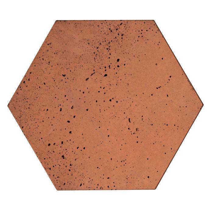 8x8 Roman Tile Hexagon Desert Travertine