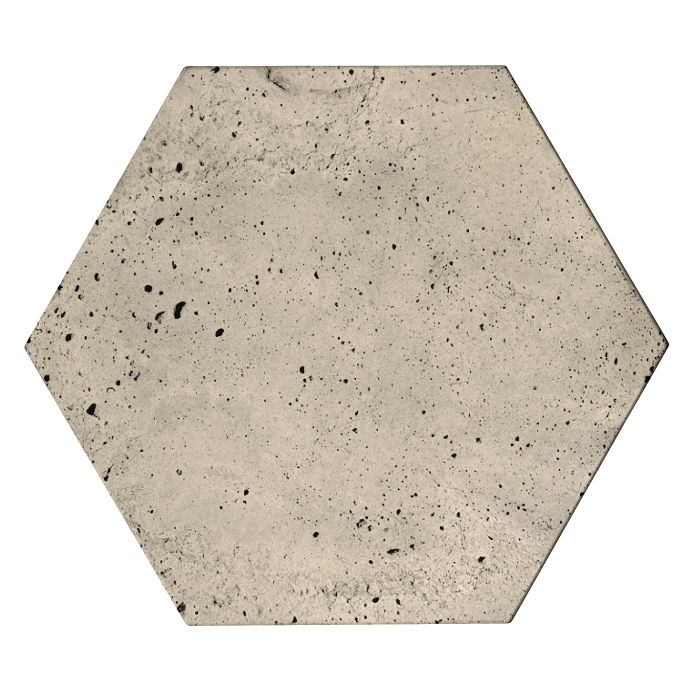 8x8 Roman Tile Hexagon Early Gray Luna